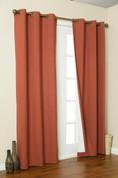 Weathermate Thermologic Grommet Top Curtain pair - Terracotta