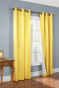 Weathermate Thermologic Grommet Top Curtain pair - Yellow
