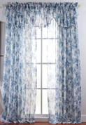 Ashley Printed Sheer Rod Pocket Curtains - Available in 4 Colors