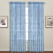 Bling Rod Pocket Curtain - Blue