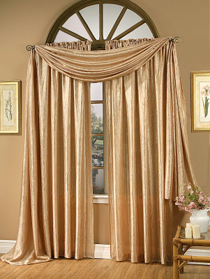 Whisper Crushed Satin Rod Pocket Curtain Panels
