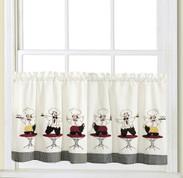 """Cheers Chef 24"""" kitchen curtain tier"""