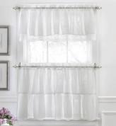 Gypsy Ruffled Kitchen Curtain - White
