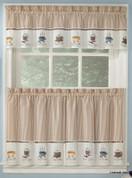 Java coffee theme kitchen curtain
