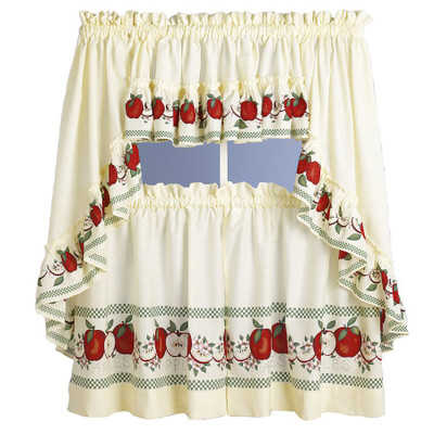 Red Delicious Apples Kitchen Curtain Linens4less Com