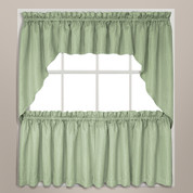 Hamden kitchen curtain sage green