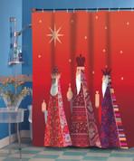 Christmas Three Kings Shower Curtain