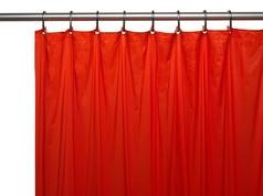 Solid Vinyl Shower Curtain Liner 3 gauge - Red