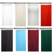 Bulk Case Pack Vinyl Shower Curtain Liner 3 Gauge In White Bone Clear