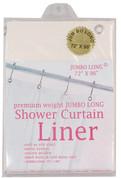 """Bulk Case Pack 10 Gauge Vinyl Shower Curtain Liner - 96"""" long"""