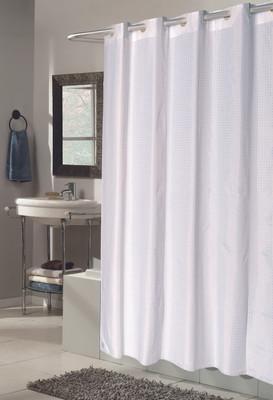 Bulk Case Pack 24 Pcs Hookless Fabric Shower Curtain Checks