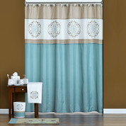 Medallion Shower Curtain and Bathroom Accessories