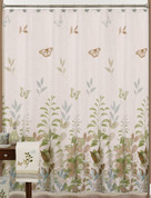 Fluttering - Fabric Shower Curtain