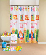 Hanging Loose - Fabric Shower Curtain
