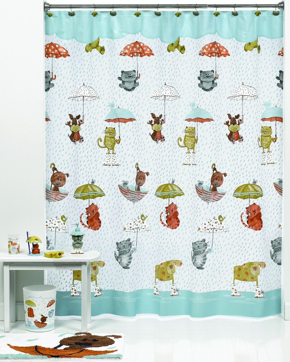 Raining Cats Amp Dogs Shower Curtain Amp Bathroom Accessories