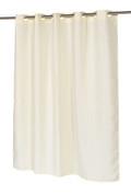 Waffle Weave EZ On Hookless Fabric Shower Curtain - Ivory