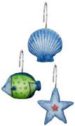 Oceanic Shower Curtain Hooks - set of 12