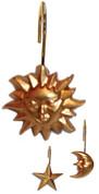 Solar Shower Curtain Hooks Gold - set of 12