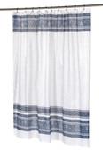 Fleur Silver - Fabric Shower Curtain