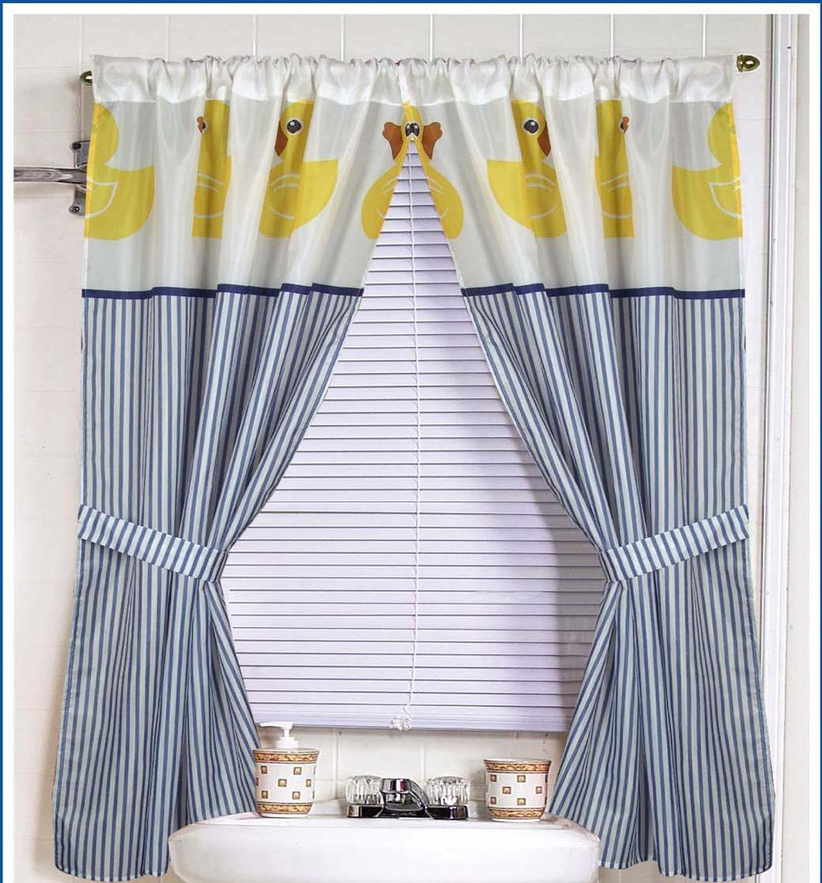 Rubber Ducky Fabric Window Curtain Linens4less Com