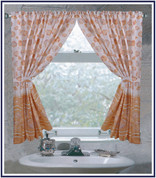 South Beach Ivory - Fabric Window Curtain