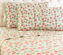 Micro Flannel Sheet Set - Snowflakes from Shavel