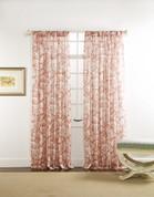 "Cecilia Rod Pocket Curtain 84"" long - Coral"