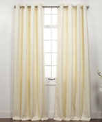 Memento Grommet Top Curtain Panel - Ivory