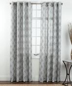 Theo Printed Grommet Top Curtain Panel - Platinum