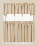 """Barcode kitchen curtain 36"""" tier"""