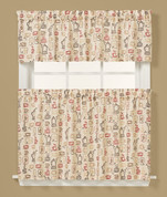 Breaktime coffee themed novelty Kitchen Curtain from Saturday Knight. Available in tiers and valances
