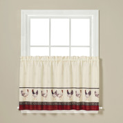 """French Country kitchen curtain 24"""" tier from Saturday Knight"""