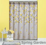 Spring Garden Shower Curtain & Bathroom Accessories from Saturday Knight