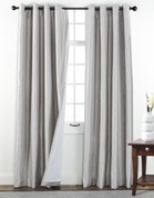 Sanctuary Grommet Top Curtain Panel - Silver from Belle Maison