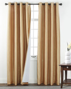 Sanctuary Grommet Top Curtain Panel - Truffle from Belle Maison