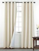 Sanctuary Grommet Top Curtain Panel - Vanilla from Belle Maison