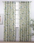 Daphne Linen Rod Pocket Curtains - Surf