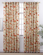 Daphne Lined Rod Pocket Curtains - Crimson