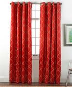 Envision Blackout Grommet Top Curtain Panel - Crimson