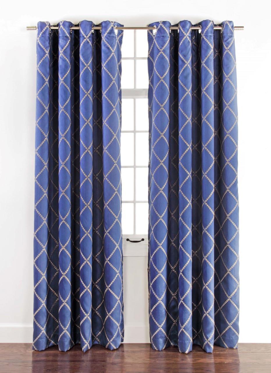 Envision Blackout Grommet Top Curtain Panel Cobalt