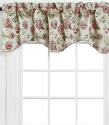 Dahlia Scalloped Lined Valance - Beige
