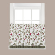 """Cheerful Trimmings Christmas kitchen curtain 24"""" tier"""