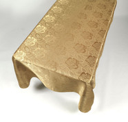 Damask Fabric Tablecloth - Gold