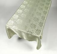 Damask Fabric Tablecloth - Sage