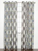 Felix Printed Grommet Top Curtain Panel - Pewter