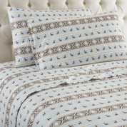 Micro Flannel Sheet Set from Shavel - Reindeer Stripe