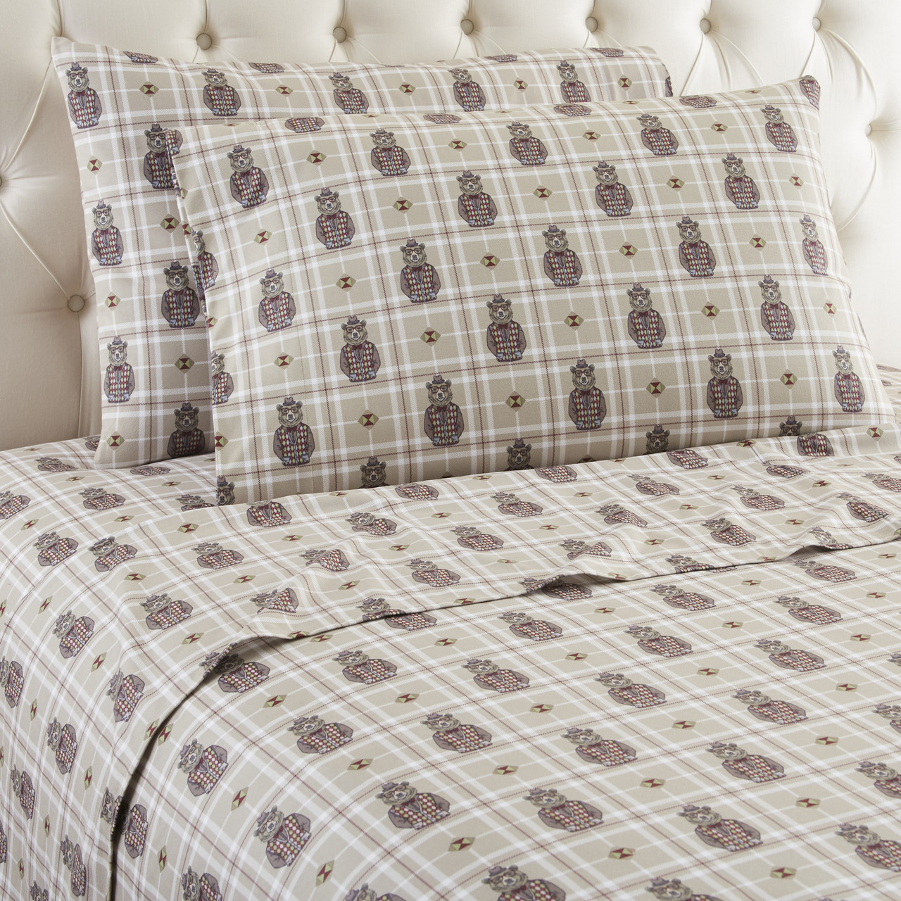 Micro Flannel Sheet Set Grizzly B Cool Linens4less Com
