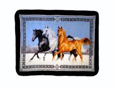 Horses Running Blanket Throw from Shavel