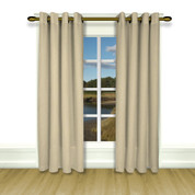 New Castle Lined Grommet Top Curtain Panel - Natural