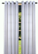 Bal Harbour Semi-Sheer Grommet Top Curtain Panel - White